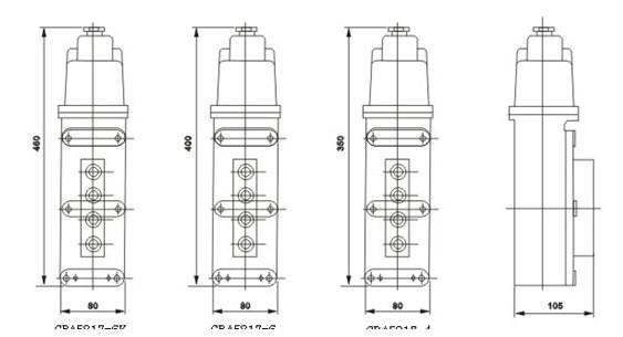LA5817防爆电动葫芦按钮外形图