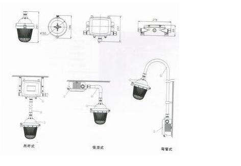 防眩泛光灯NFC9112安装举例
